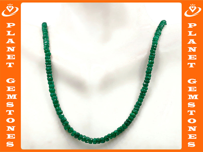 Natural Emerald Necklace Green Emerald Necklace Emerald Beads Green Gemstone beads Emerald stone beads SKU:6142172-Emerald-Planet Gemstones