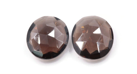 Natural Quartz Natural Smoky Quartz Smoky Vintage Quartz DIY Jewelry Loose Stone Smoky Quartz Smokey Quartz Oval 14x12mm 9ct SKU:113053-Planet Gemstones