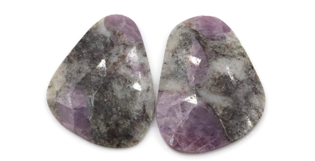 Natural Opal Rose Cut Gemstone 17x23mm Purple Opal Matching Pair DIY Jewelry Supply DIY Jewelry Supplies-Planet Gemstones