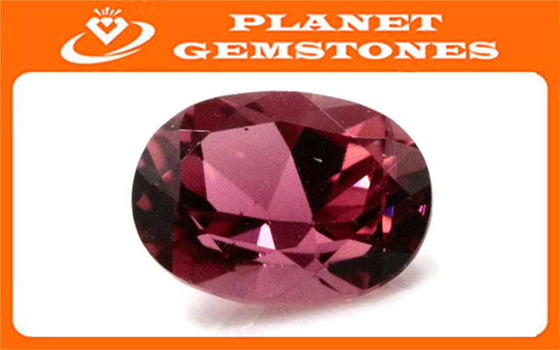 Natural Tourmaline Pink Tourmaline October Birthstone DIY Jewelry Black Tourmaline Tourmaline Tourmaline Oval Tourmaline 0.88ct 7x5mm-Tourmaline-Planet Gemstones
