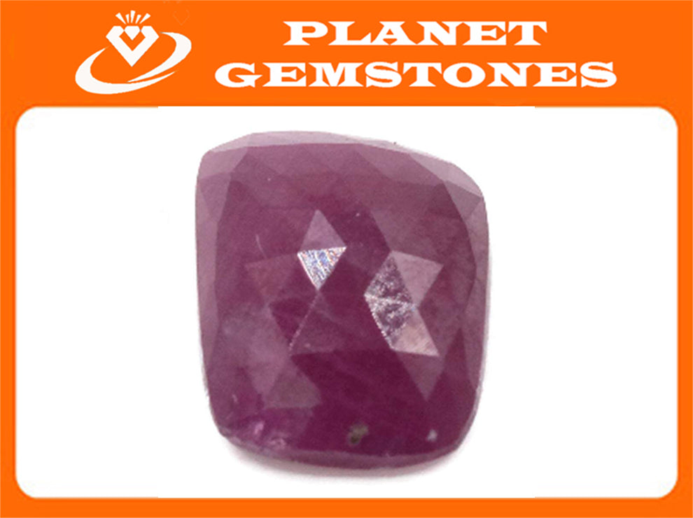 Natural Ruby DIY Jewelry Supply Ruby July Birthstone Rose Cut Ruby Gemstone Genuine Ruby Ruby pair 7.37ct 13x10mm Ruby Rose cut-Ruby-Planet Gemstones