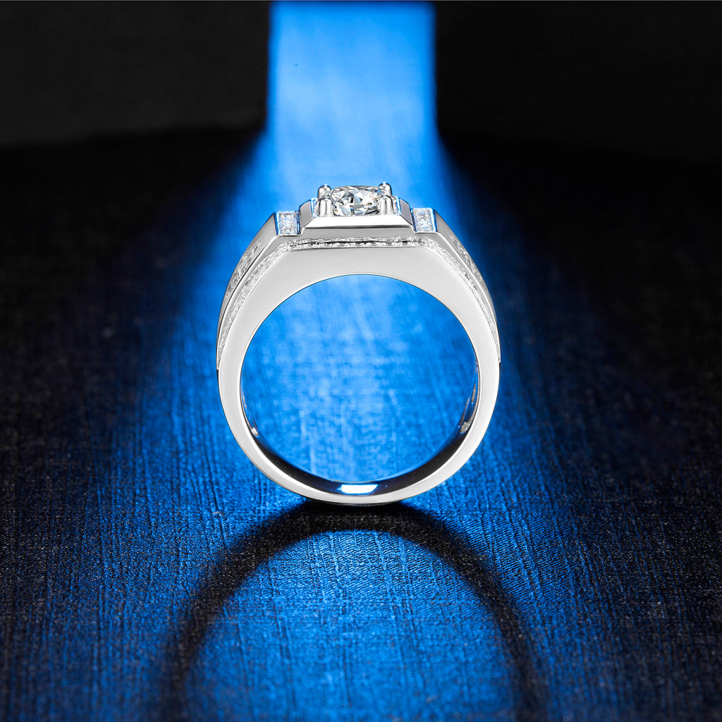 Moissanite Ring Moissanite Mens ring Solitaire Ring Moissanite Solitaire Ring Promise ring Mens Ring Wedding Ring SKU:6142021-RING-Planet Gemstones