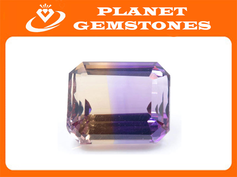 natural ametrine gemstone/top quality faceted ametrine loose stone/genuine ametrine for jewelry/ametrine gem stone 19x15.5mm 25.78ct-Planet Gemstones