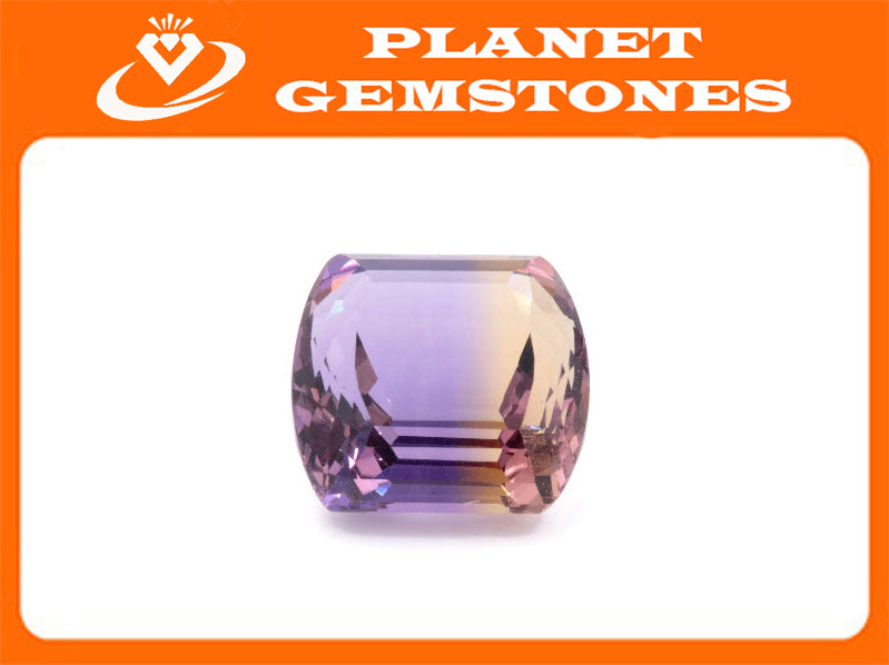 natural ametrine gemstone/top quality faceted ametrine loose stone/genuine ametrine for jewelry/ametrine gem stone 16x15mm 18.84ct-Planet Gemstones
