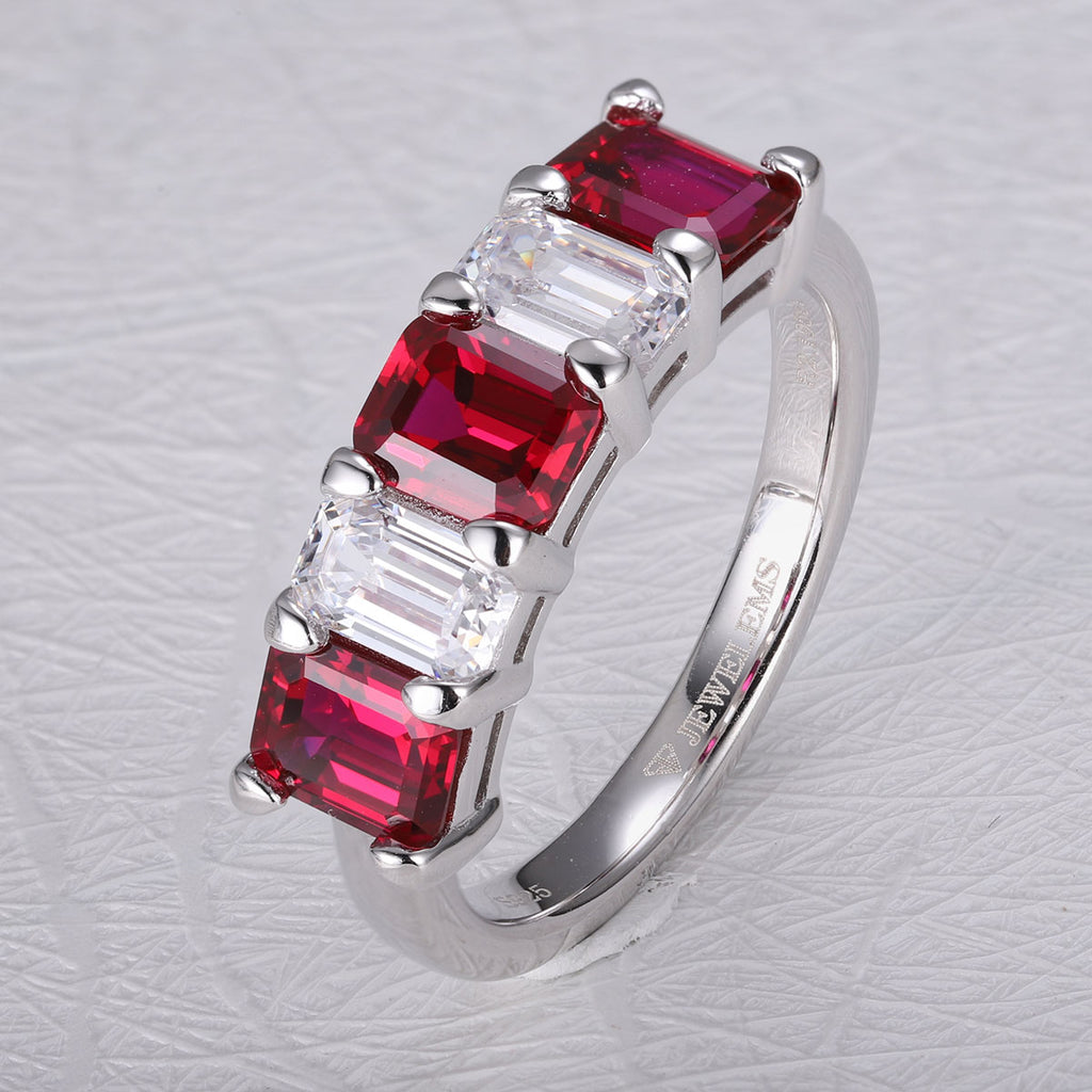 Women's Ruby semi band reversible ring SKU 6142091-Planet Gemstones