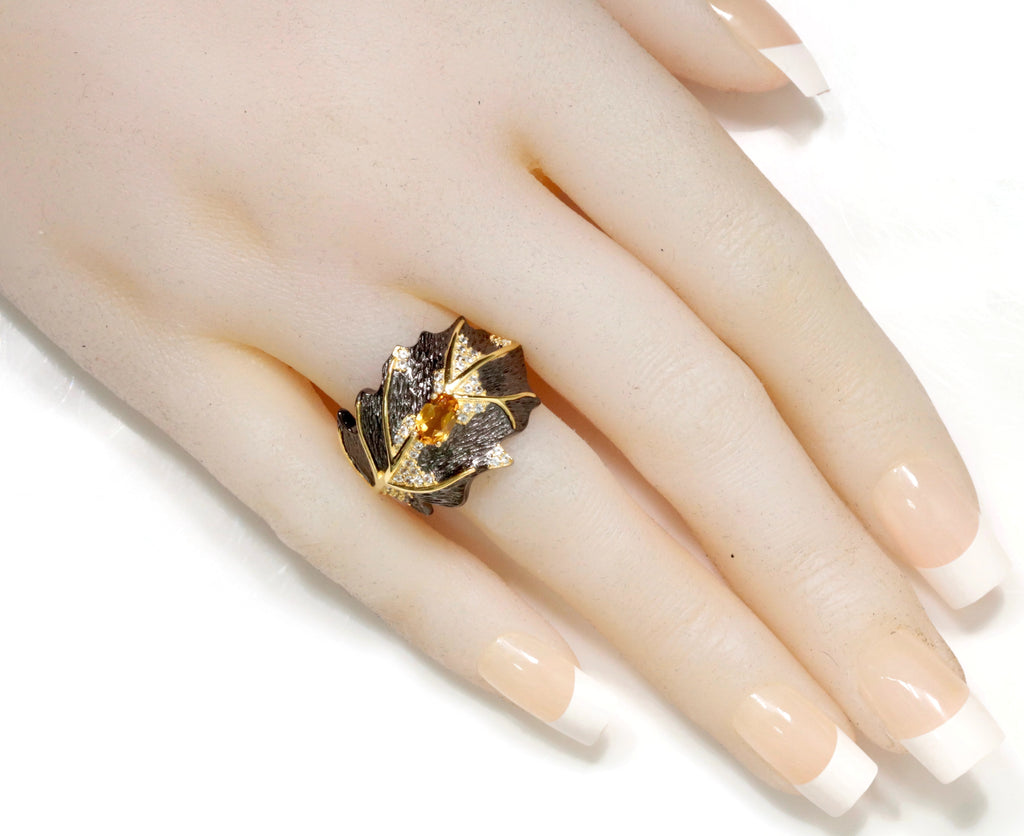 Citrine Ring Citrine Jewelry Citrine Ring Natural Citrine Genuine Citrine Jewelry November Birthstone Silver Jewelry SKU:6142041-CITRINE-Planet Gemstones