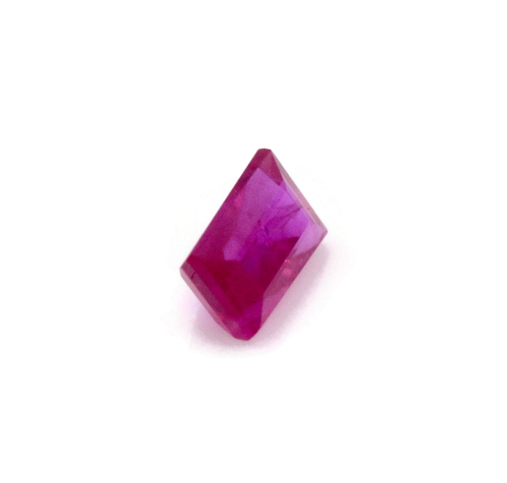 Genuine Ruby Natural Ruby Baguette Gemstone July Birthstone Ruby Loose Stone Burmese Ruby Natural Ruby Gemstone 4x2mm 0.14cts SKU:114598-Ruby-Planet Gemstones