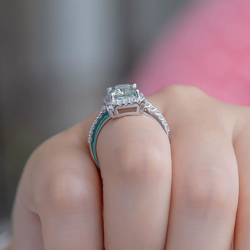 Moissanite Ring Moissanite Women Ring Solitaire Ring Women Solitaire Ring, Promise Ring Women Ring, Women Wedding Ring Women Engagement Ring SKU:6142027-Women Moissanite Ring-Planet Gemstones