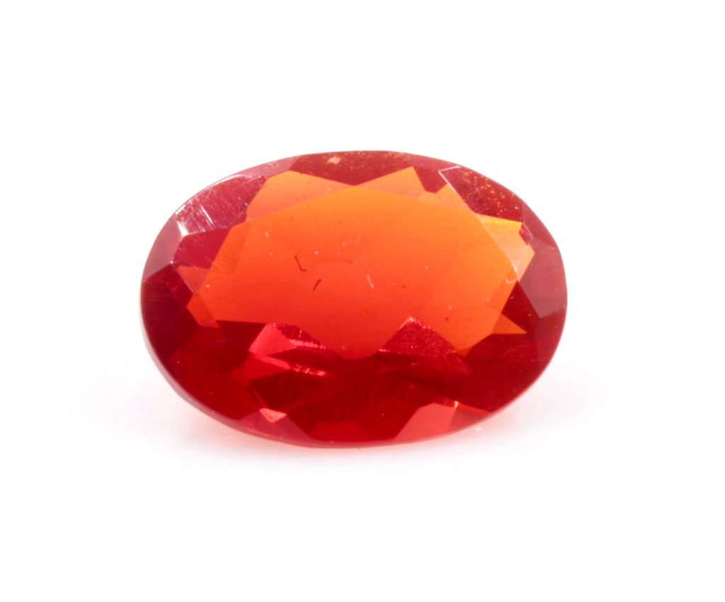 Natural Fire Opal Mexican Fire Opal October birthstone Fire Opal Gemstone Faceted Fire Opal OV 7X5mm Fire Opal Loose Stone SKU:114529-opal-Planet Gemstones