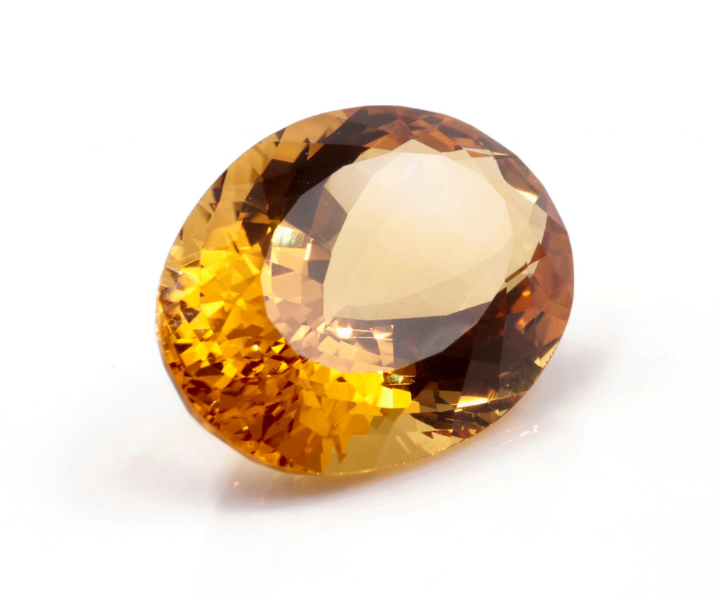 Natural Citrine Quartz Citrine DIY Jewelry Supply Supply Citrine Loose Gemstone November Birthstone Golden Citrine Quartz 24X17mm SKU:114552-CITRINE-Planet Gemstones