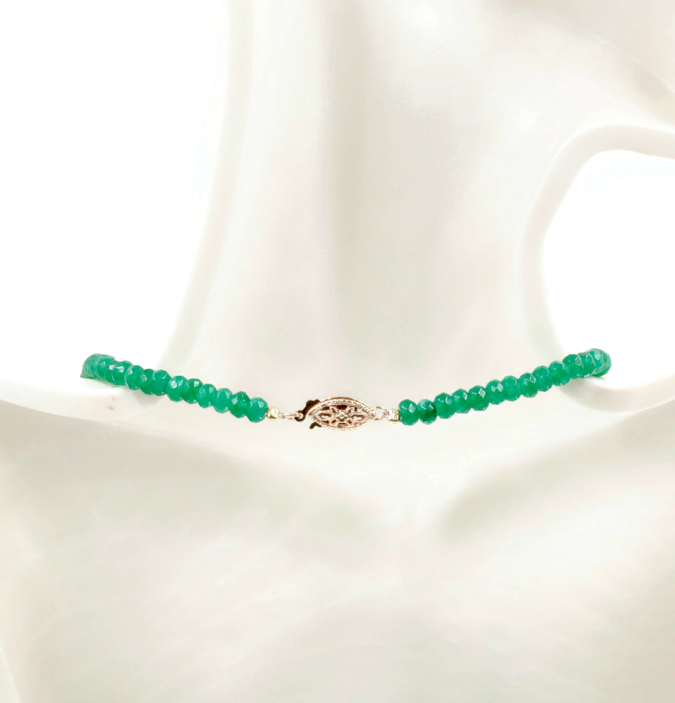 Natural Green Emerald gemstone Necklace Emerald Strand Jewelry Emerald stone Necklace Green RD Necklace Emerald Beads SKU: 6142170,6142171-Emerald-Planet Gemstones