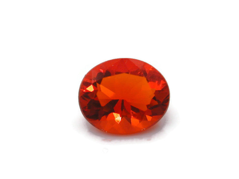 Natural Fire Opal Mexican Fire Opal October birthstone Fire Opal Gemstone Faceted Fire Opal Fire Loose Stone Oval 9x7 1.39 cts SKU:105209-opal-Planet Gemstones