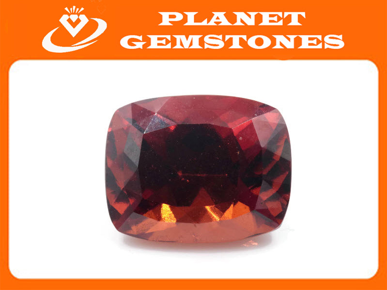 Hessonite Garnet Natural Hessonite Orange Garnet gemstone January Birthstone Hessonite Garnet 14x11mm 11.88ct CUS Loose Stone SKU:00104310-Planet Gemstones