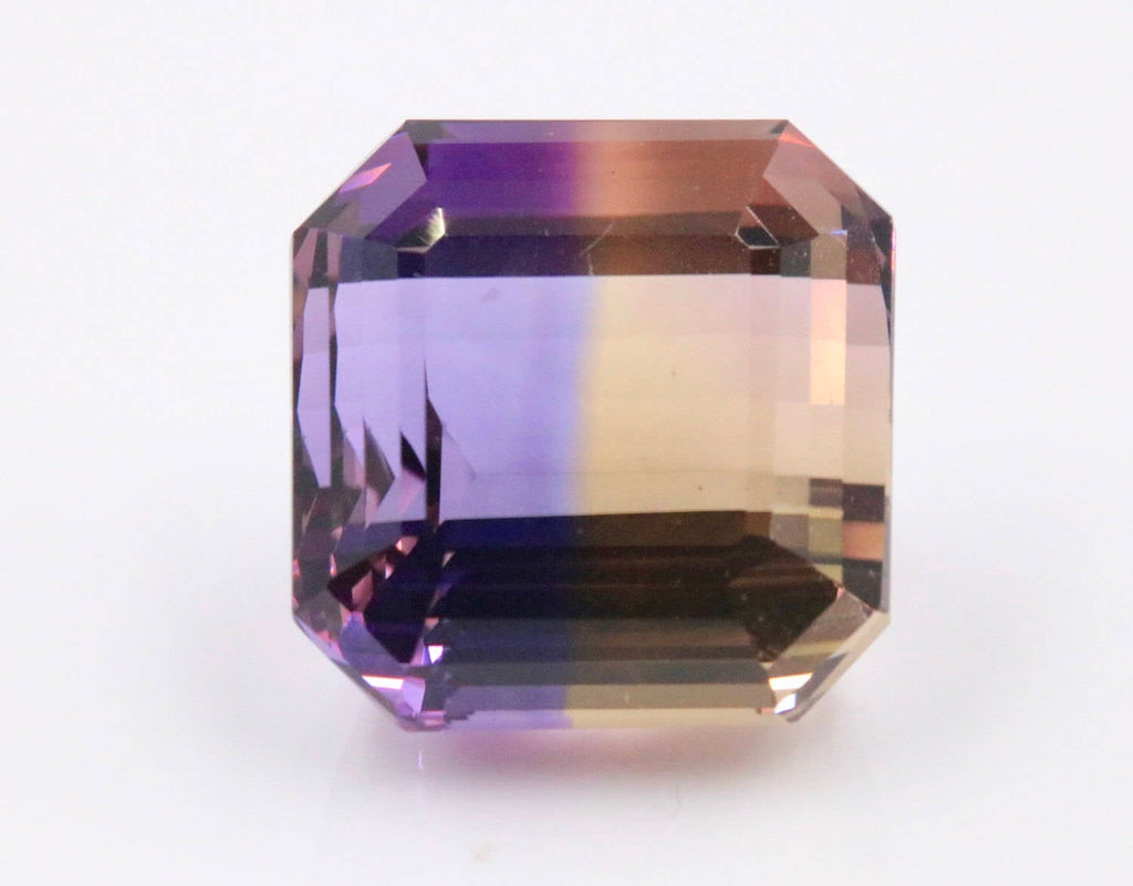 natural ametrine gemstone/top quality faceted ametrine loose stone/genuine ametrine for jewelry/ametrine gem stone/ametrine loose 17mm 28ct-Planet Gemstones