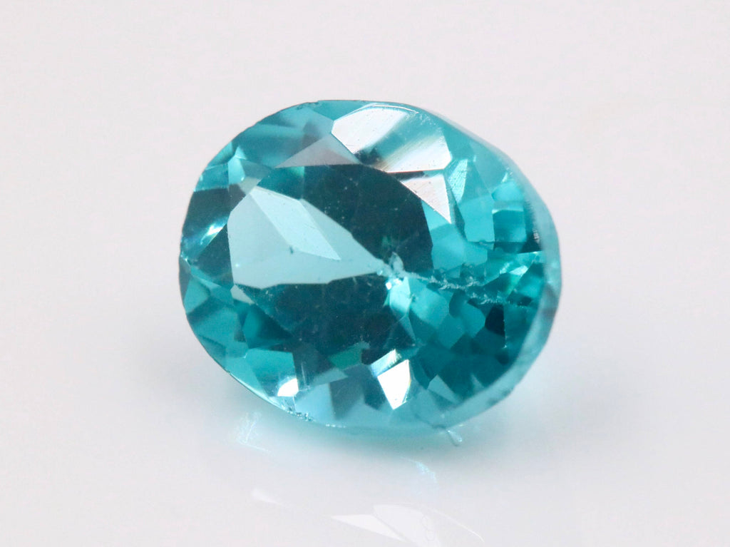 Natural Apatite Neon Apatite Apatite Gemstone Blue Apatite faceted Apatite Genuine Apatite stone DIY Apatite faceted Oval 3.2ct 10x8mm-Planet Gemstones