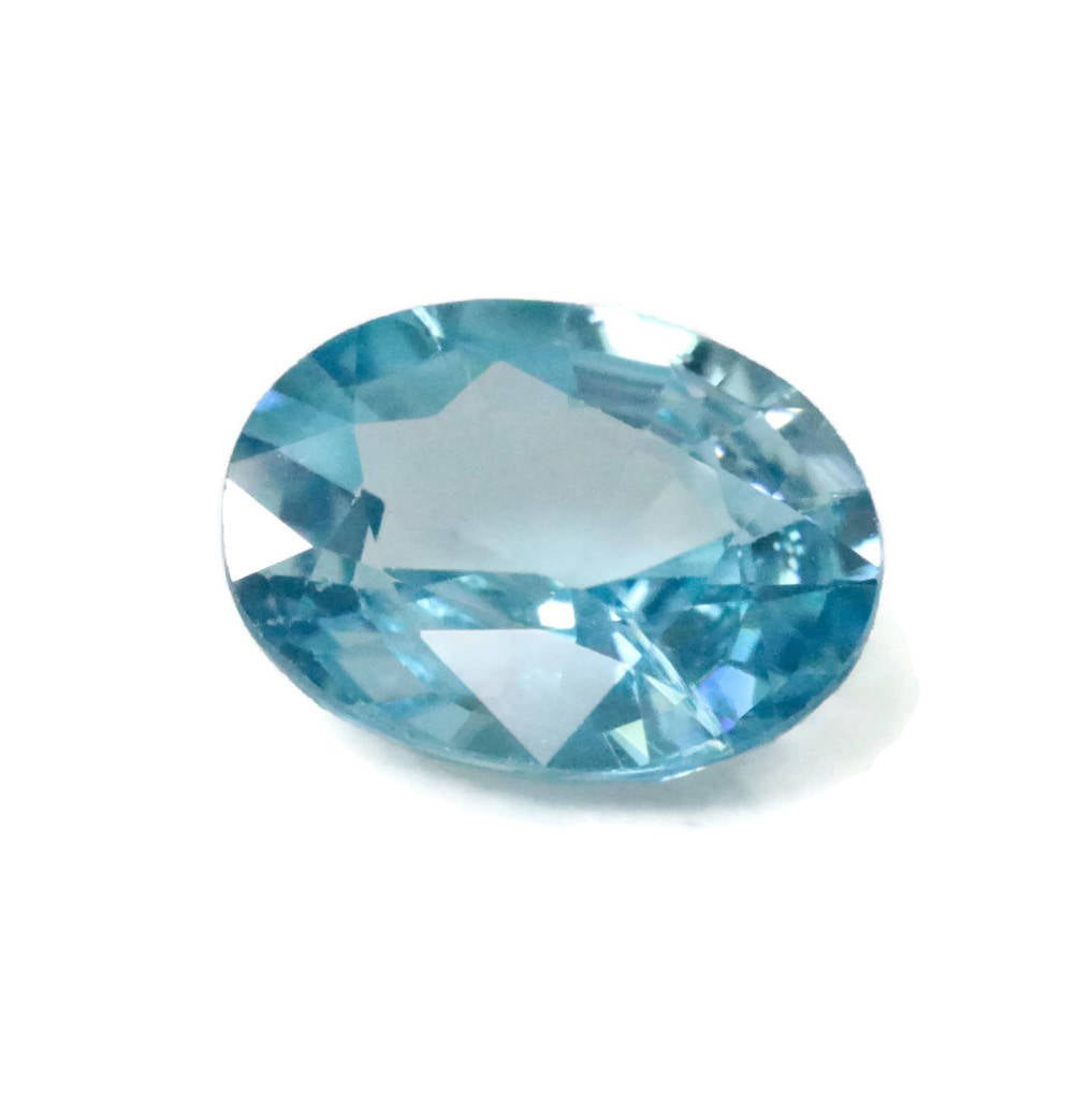 Natural Blue Zircon Cambolite Blue Zircon Natural Zircon December Birthstone Genuine Zircon Blue Zircon Stone 3.36ct 10x7mm DIY Jewelry-Planet Gemstones