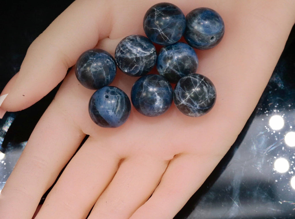 SODALITE Sodalite beads Blue Sodalite Sodalite Gemstone Blue beads Sodalite Necklace natural sodalite sodalite loose DIY Jewelry 16mm-Planet Gemstones