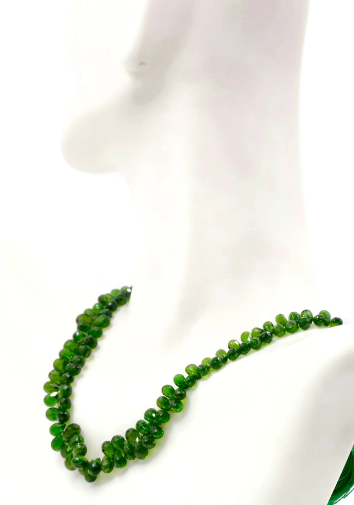 Natural Chrome diopside Chrome Diopside Green Gemstone Russian diopside Green Diopside DIY jewelry supplies beads Chrome diopside Briolette-Planet Gemstones