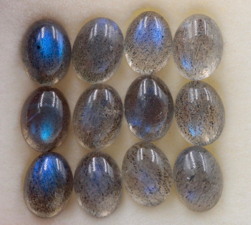 Natural Labradorite Gemstone Genuine Labradorite Blue labradorite Labradorite Cabochon Labradorite Stone DIY Jewelry 8x6mm-Planet Gemstones