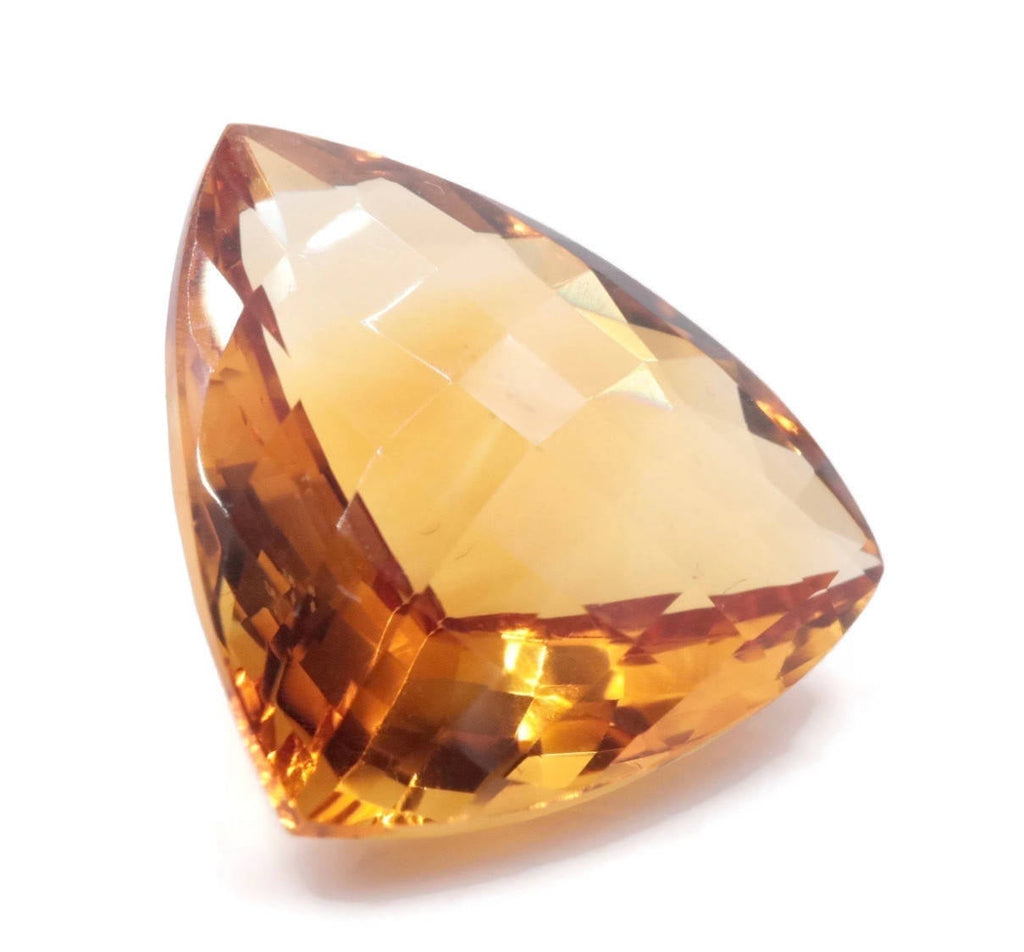 Natural Citrine Quartz Citrine Trillion faceted Citrine Loose Gemstone November Birthstone Citrine Quartz Golden Citrine 23mm 31.40ct-Planet Gemstones