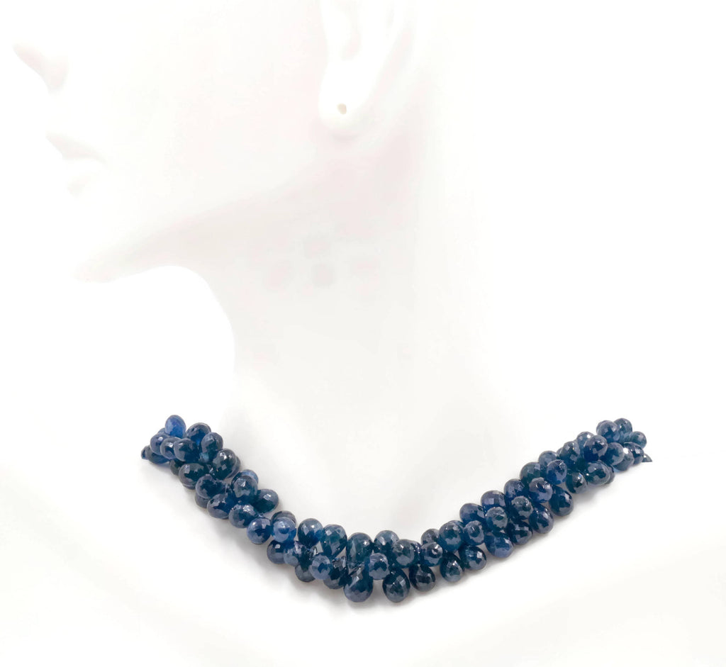 Genuine Sapphire Necklace Blue Sapphire Necklace Sapphire gemstone beads Blue gemstone necklace Sapphire Beaded Necklace-Planet Gemstones