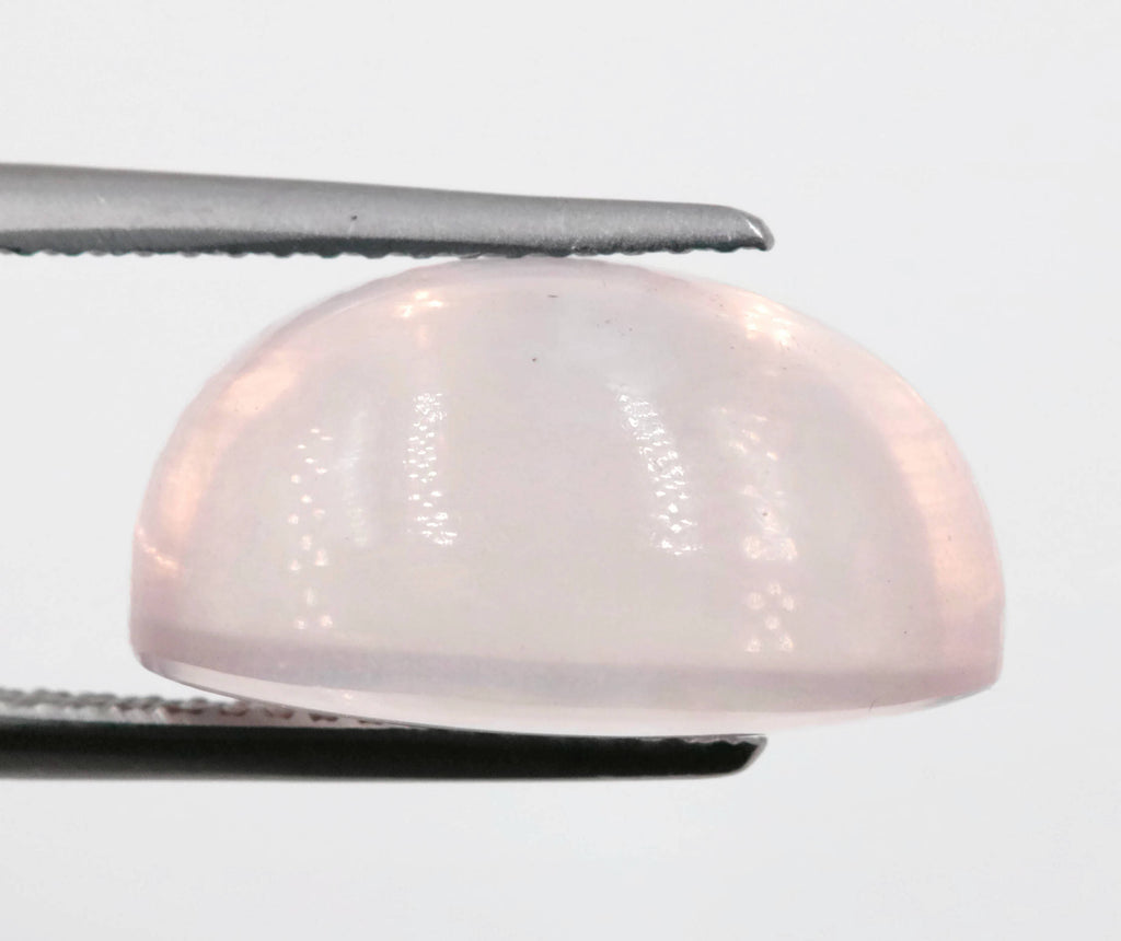 Natural Rose Quartz Gemstone Rose Quartz Stones Pink Quartz Stone ROSE QUARTZ pair, oval cabochon, 16x12mm, 24.84ct DIY Jewelry-Planet Gemstones