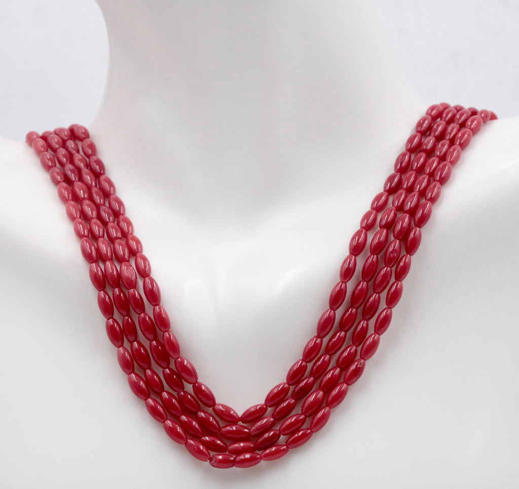 Natural Coral Beads Coral Necklace Italian Coral beads Red Coral Beads Coral Beads Red Coral Beads Coral Bead Necklace 6x3mm 15-16 Inch-Planet Gemstones