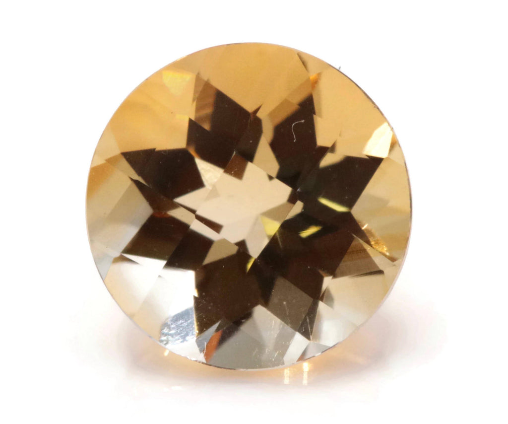 Natural Citrine Quartz Citrine Round shape DIY Jewelry Supply Citrine Loose Gemstone November Birthstone Golden Citrine Quartz 8mm 1.68ct,-Planet Gemstones
