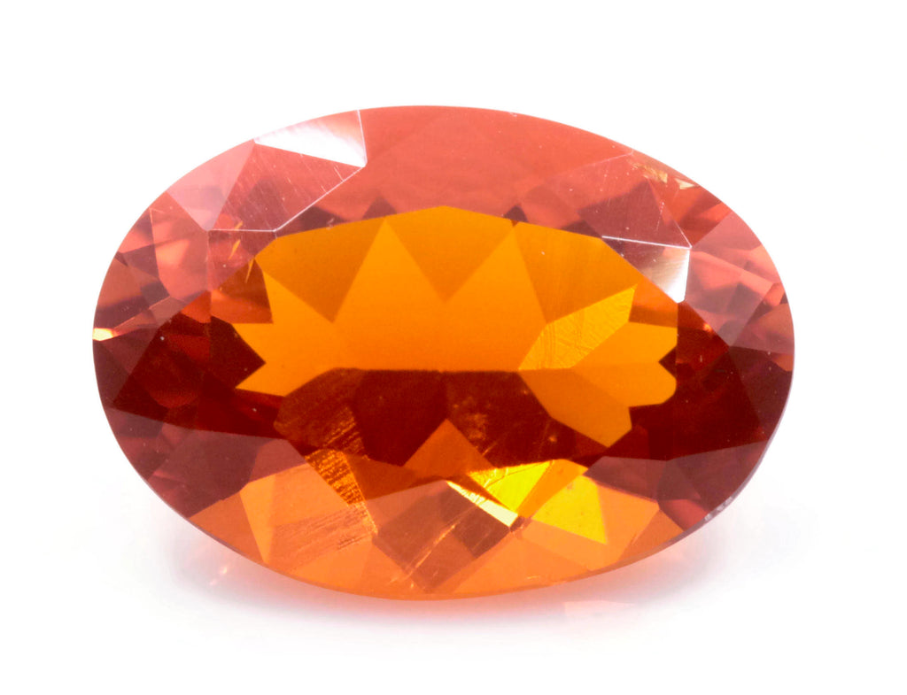 Natural Fire Opal Mexican Fire Opal October birthstone Oange Gemstone Fire Opal Gemstone Faceted Fire Opal Faceted Oval, 11x8mm, 2.12ct,-Planet Gemstones