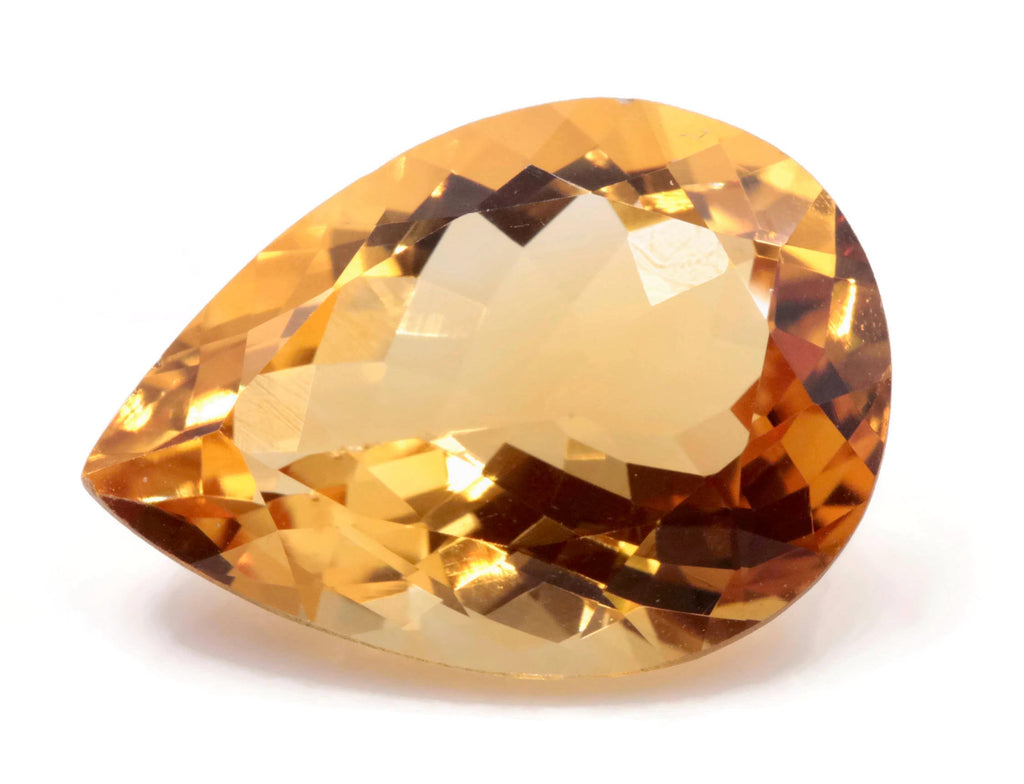 Natural Citrine Quartz Citrine shape Citrine Gemstone DIY Jewelry Supply November Birthstone Golden Citrine Quartz 18x13mm 9.60ct-Planet Gemstones