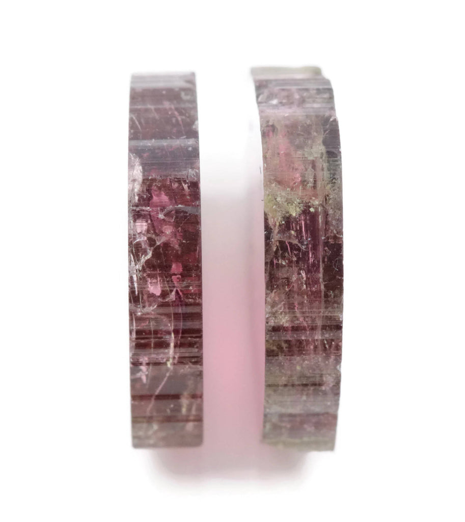 Natural Tourmaline Watermelon Tourmaline DIY Black Tourmaline Pink Tourmaline October Birthstone Tourmaline Slice 17x16mm 20.96ct-Tourmaline-Planet Gemstones