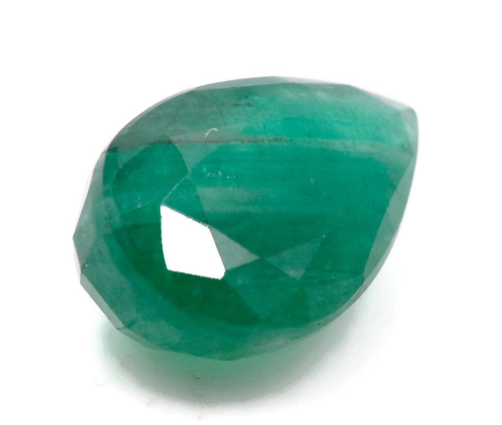 Emerald Natural Emerald May Birthstone Zambian Emerald Pear Emerald Gemstone loose gemstone 14.85x9mm, 5.73ct, Emerald Green-Emerald-Planet Gemstones
