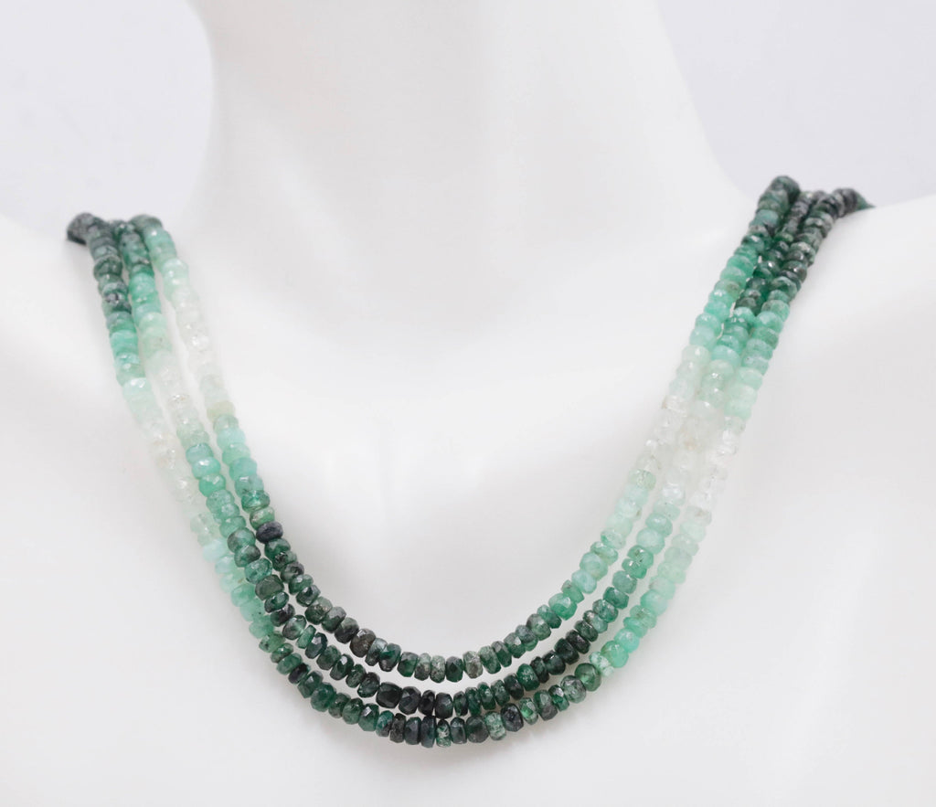 Natural Emerald Necklace Green Emerald Necklace Emerald Beads Green Gemstone beads Emerald stone beads emerald gemstone beads 2-3mm-Emerald-Planet Gemstones