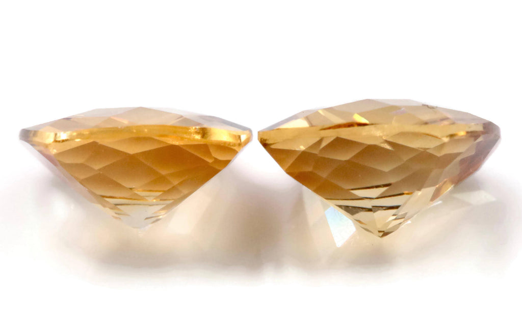 Natural Citrine Quartz Citrine Cushion shape DIY Jewelry Supply Citrine Gemstone November Birthstone Golden Citrine Quartz 8mm 3.14ct-Planet Gemstones
