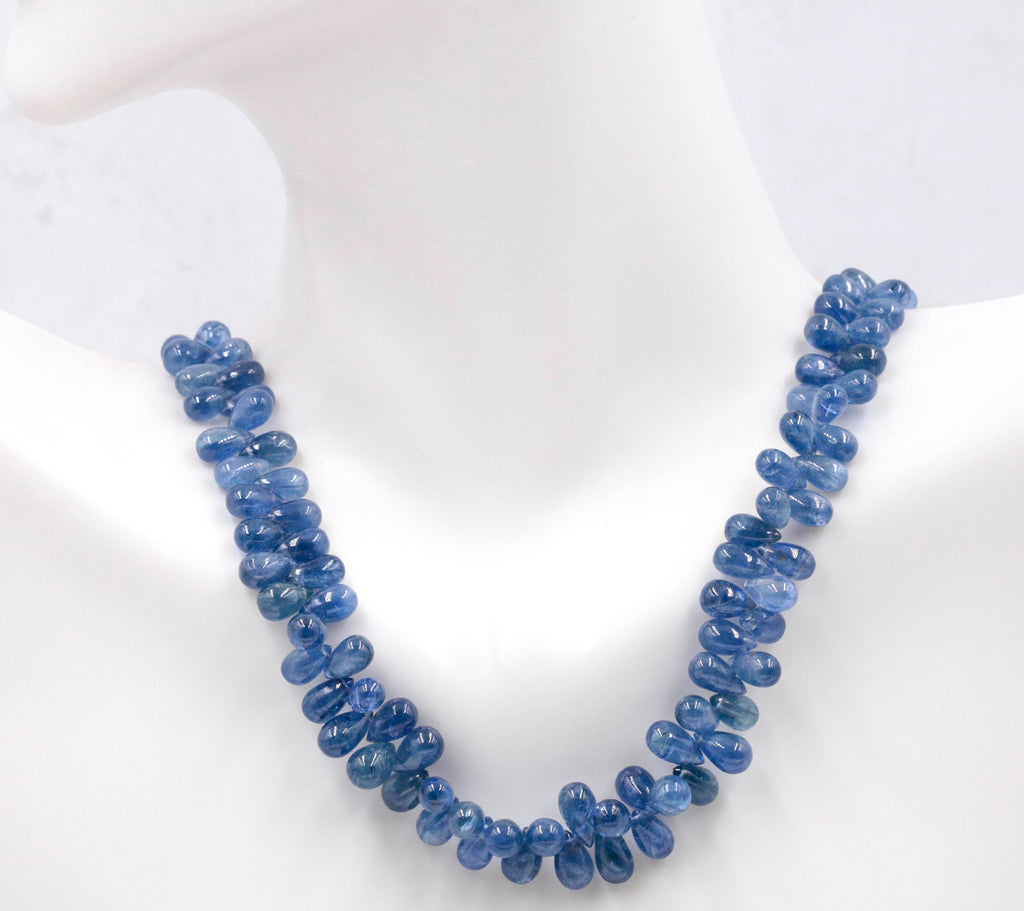 Sapphire Natural Sapphire Blue Sapphire Sapphire Necklace Sapphire Beads September birthstone diy jewelry supplies 17-18 Inches-Planet Gemstones