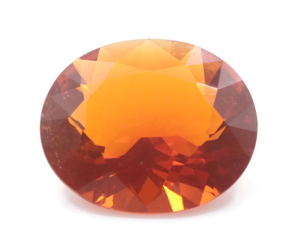 Natural Fire Opal Mexican Fire Opal October birthstone Oange Gemstone Fire Opal Gemstone Faceted Fire Opal Faceted Oval, 10x8mm, 1.80ct,-Planet Gemstones