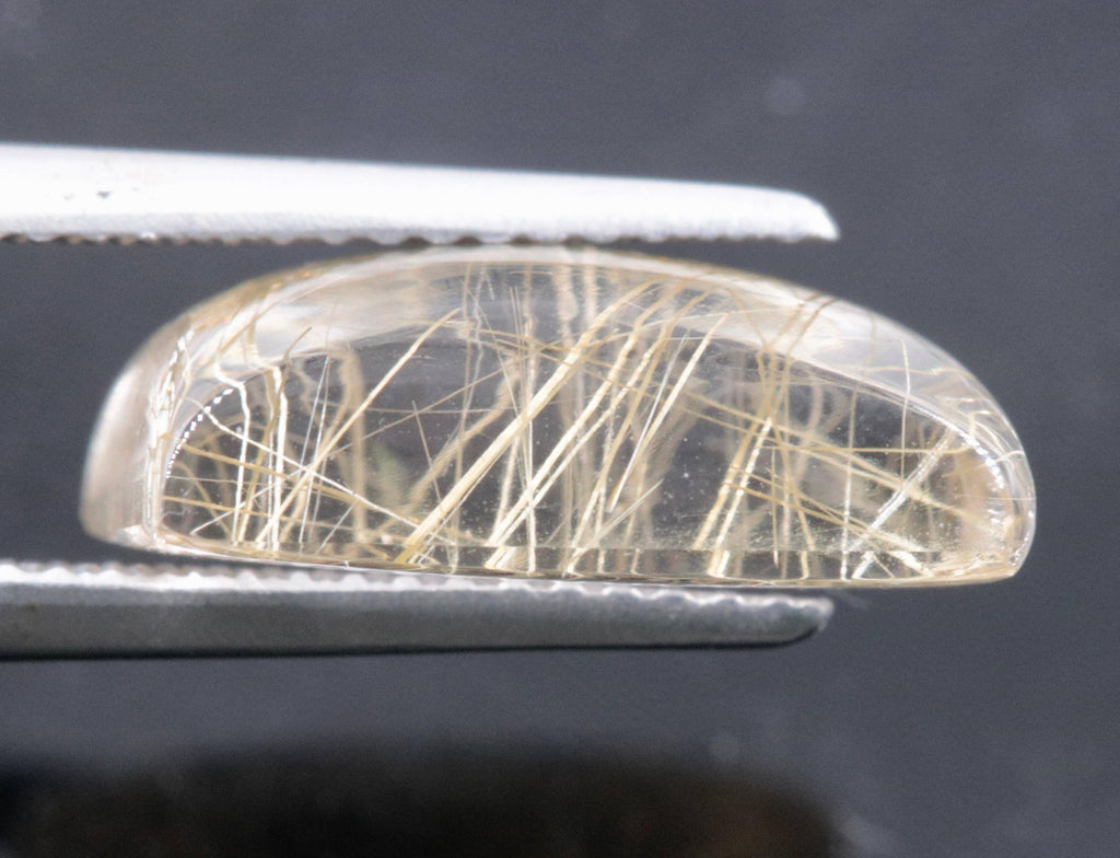 Natural Rutile Quartz Gemstone loose Rutile Quartz Stone Rutile Qartz Gems Rutile Quartz Cabs Rutile Quartz 14x10mm DIY Jewelry-Planet Gemstones