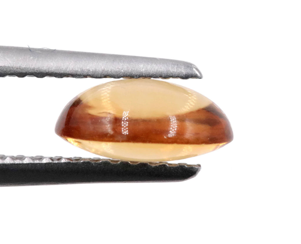 Natural Citrine Quartz Citrine Cabochon Citrine Loose Gemstone DIY Jewelry Supply November Birthstone Golden Citrine Quartz 7x5mm 0.75ct-Planet Gemstones