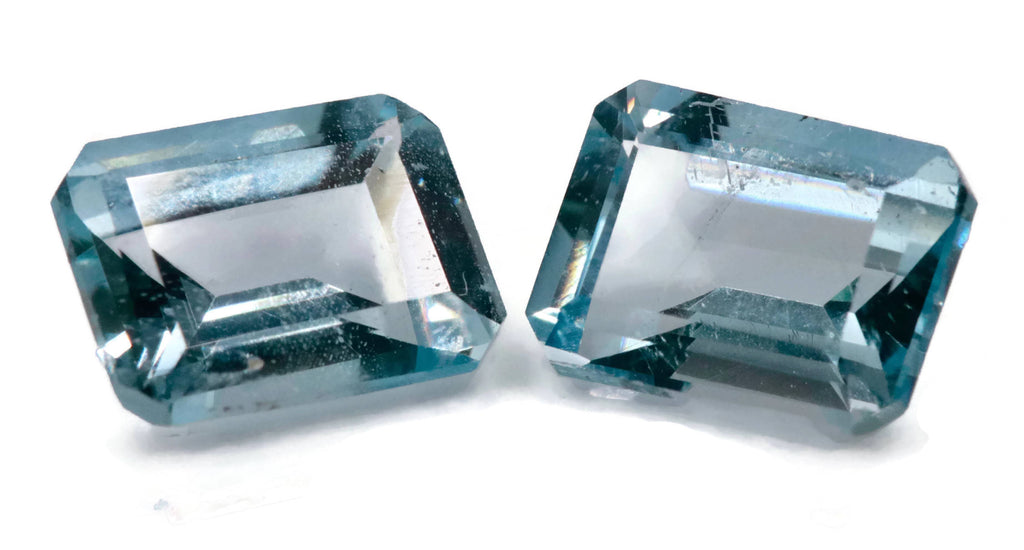 Aquamarine Natural Aquamarine March Birthstone DIY Jewelry Supplies Aquamarine Gemstone Blue Aquamarine Genuine Aquamarine 8x6mm, 1.75ct-Aquamarine-Planet Gemstones