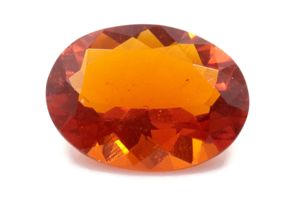 Natural Fire Opal Mexican Fire Opal October birthstone Oange Gemstone Fire Opal Gemstone Faceted Fire Opal Faceted Oval, 12x9mm, 2.78ct,-Planet Gemstones
