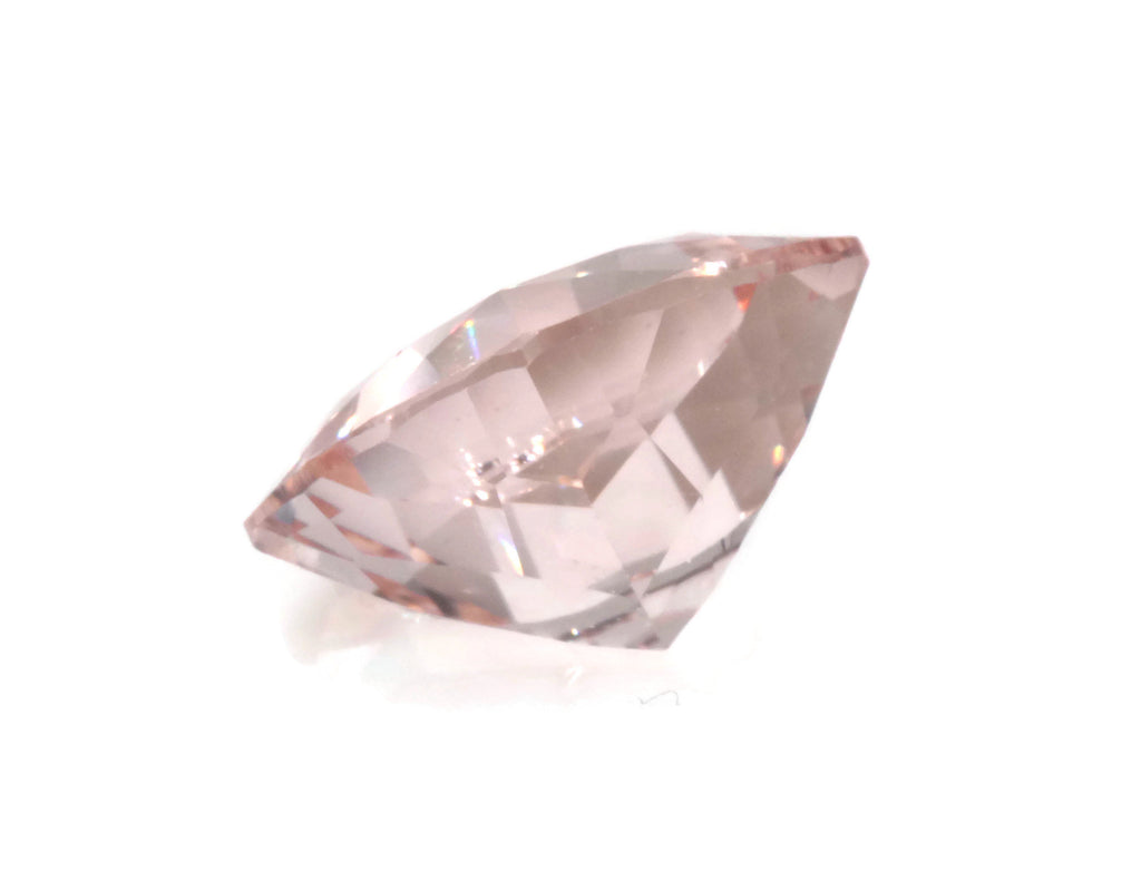 Morganite Natural Morganite Pink Morganite DIY Jewelry supplies Morganite Loose Morganite Gemstone Cushion Peach Morganite 7mm 1.25ct-Planet Gemstones