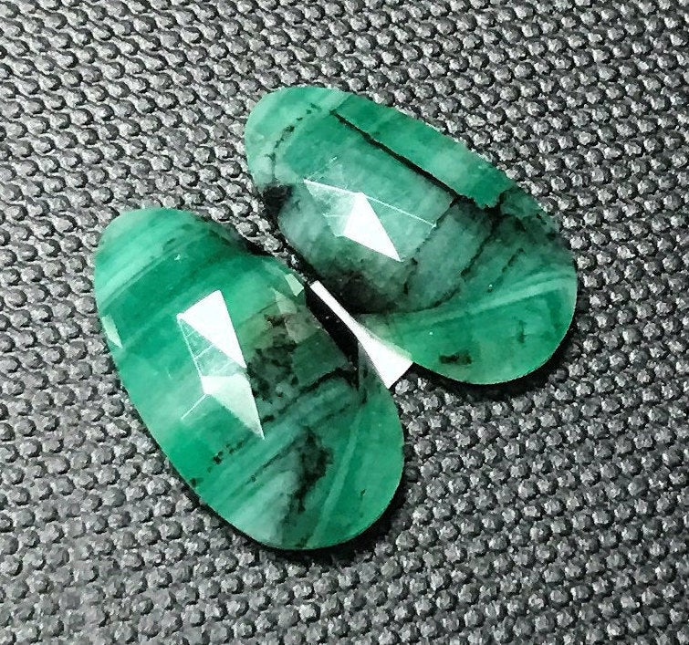Emerald Natural Emerald May Birthstone Emerald Green Diy Jewelry Diy Jewelry Supplies Natural Emerald Rose Cut DIY Jewelry Supplies-Planet Gemstones