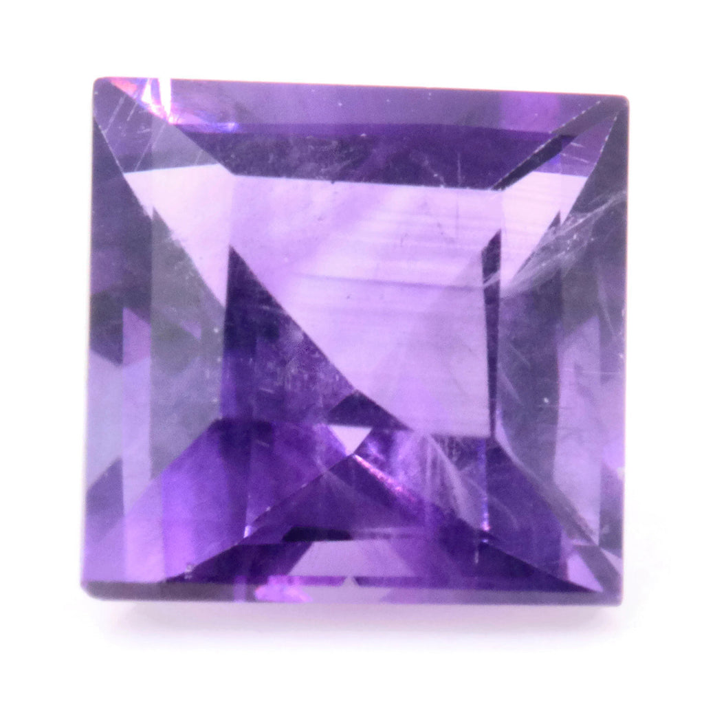 Natural amethyst gemstone faceted amethyst loose stone genuine amethyst stone amethyst loose stone february birthstone 0.98ct 6mm-Planet Gemstones