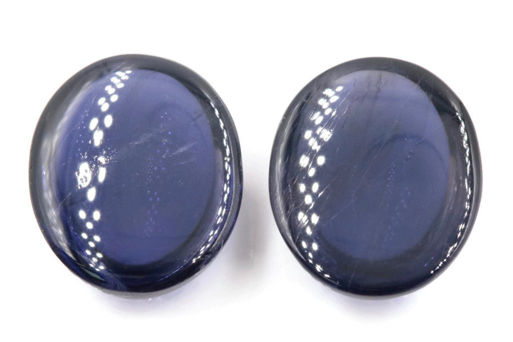 Natural Iolite Gemstone Cabochon Iolite Stone Iolite Loose Iolite Vettrigemsusa IOLITE oval 12x10mm, 3.61ct DIY Jewelry Supplies-Planet Gemstones