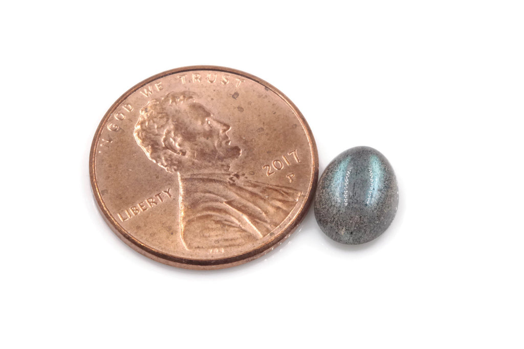 Natural Labradorite Gemstone Genuine Labradorite Blue labradorite Labradorite Cabochon Labradorite Stone DIY Jewelry 9x7mm, 1.80ct-Planet Gemstones