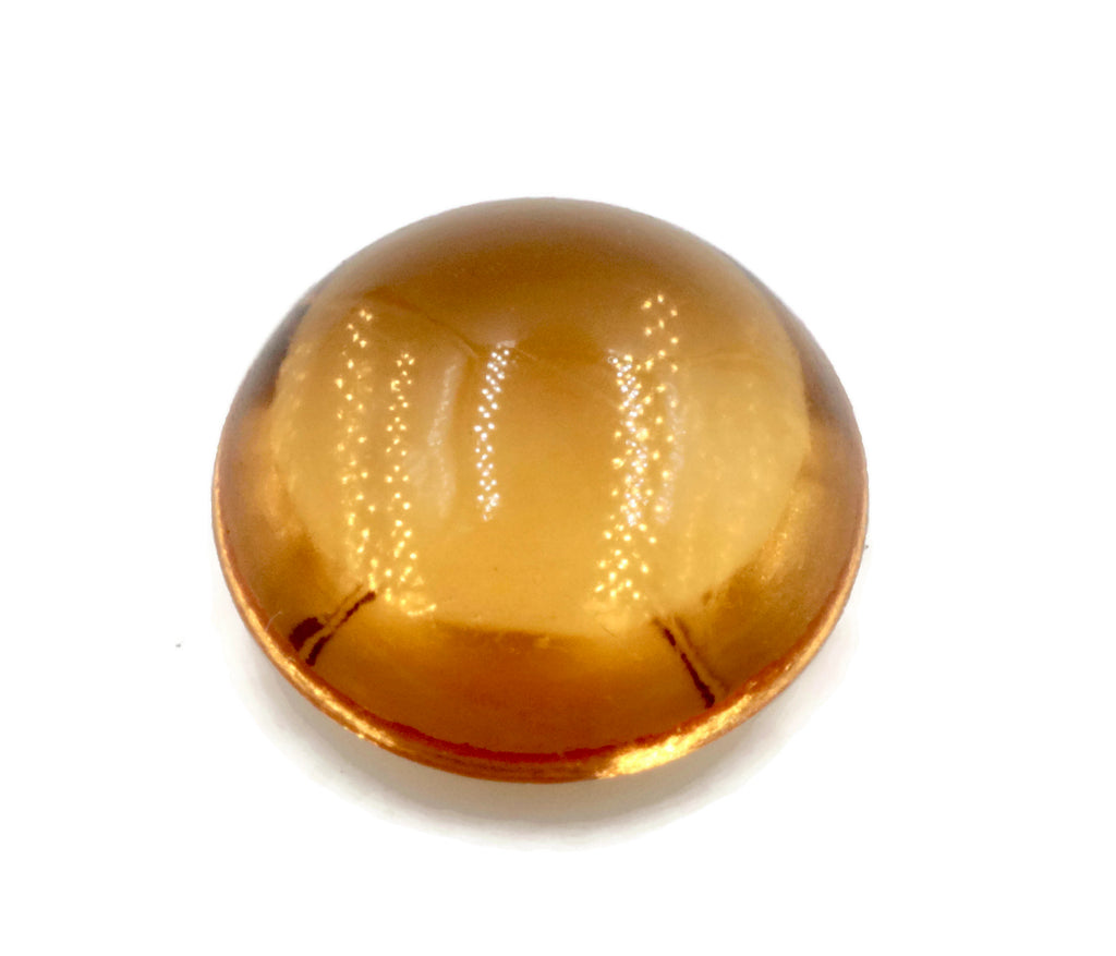 Natural Citrine Quartz Citrine Round Cabochon Citrine Gemstone DIY Jewelry Supply November Birthstone Golden Citrine Quartz 11mm 5.40ct-Planet Gemstones