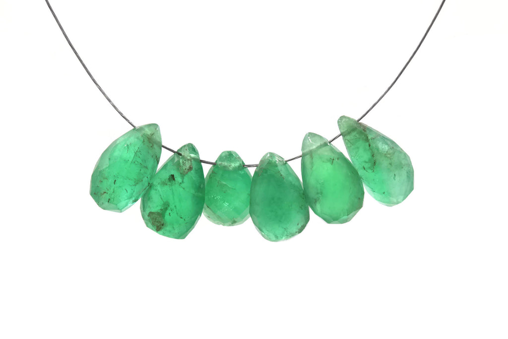 Genuine Emerald Beads Emerald Necklace Green gemstone Beads Emerald Gemstone Beads Green Jade Necklace Jade Bead Necklace 6-12mm-Emerald-Planet Gemstones