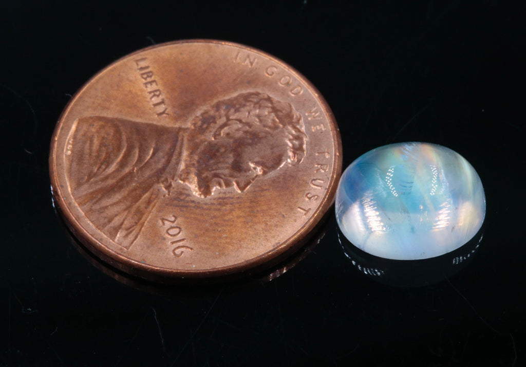 Natural Moonstone Blue moonstone Rainbow Moonstone June Birthstone Moonstone DIY jewelry Supplies Moonstone cabs Oval 10x8mm 1 pc 3.1ct-Planet Gemstones