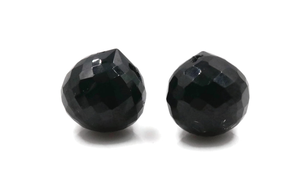 Natural Black Spinel, Onion Shaped Spinel, Faceted Black Spinel, DIY Jewelry Supply Black Spinel beads black spinel stone, 8mm, 9-10ct-Planet Gemstones