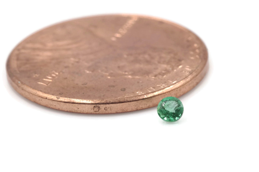Emerald Natural Emerald May Birthstone Zambian Emerald Round Diy Jewelry Supplies Emerald gemstone 0.05ct 2.5mm Emerald Green-Emerald-Planet Gemstones